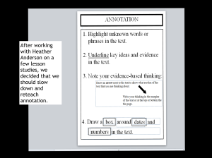 annotation chart and quote