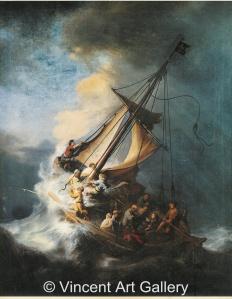 Artwork by Rembrandt, stolen from the Gardner Museum.